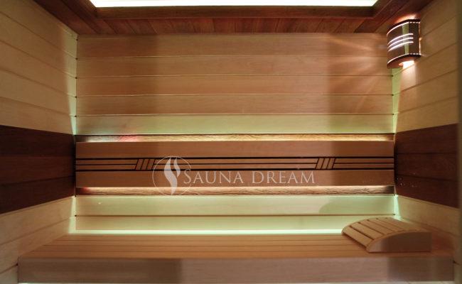 Interiér saunové kabiny Modern