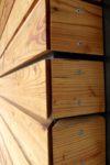Fasáda venkovní sauna- Modřín