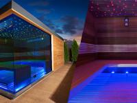 Venkovní moderní sauna