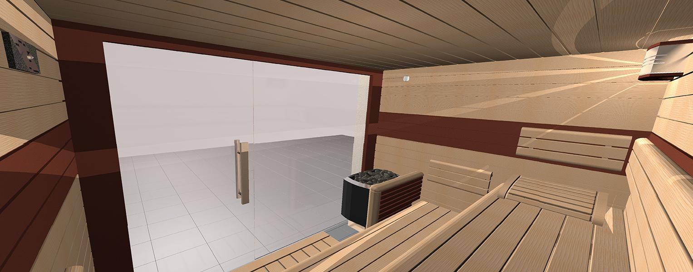 3D návrh sauny