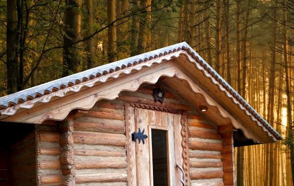 Venkovní srubová finská sauna