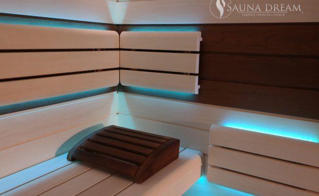 Finská sauna Modern- interieér