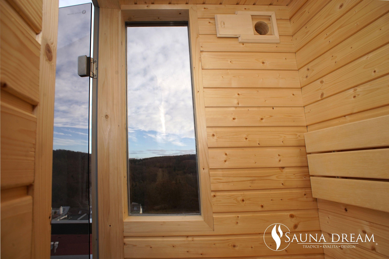 Saunová kabina Comfort-dvojité izolační bezpečnostní okno