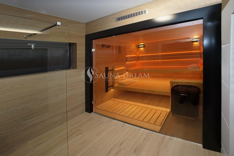 Sauna na míru vestavěná do koupelny