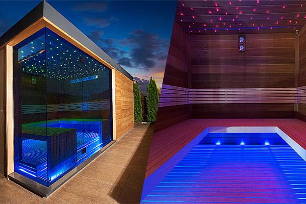 Moderní venkovní sauna - 600x400