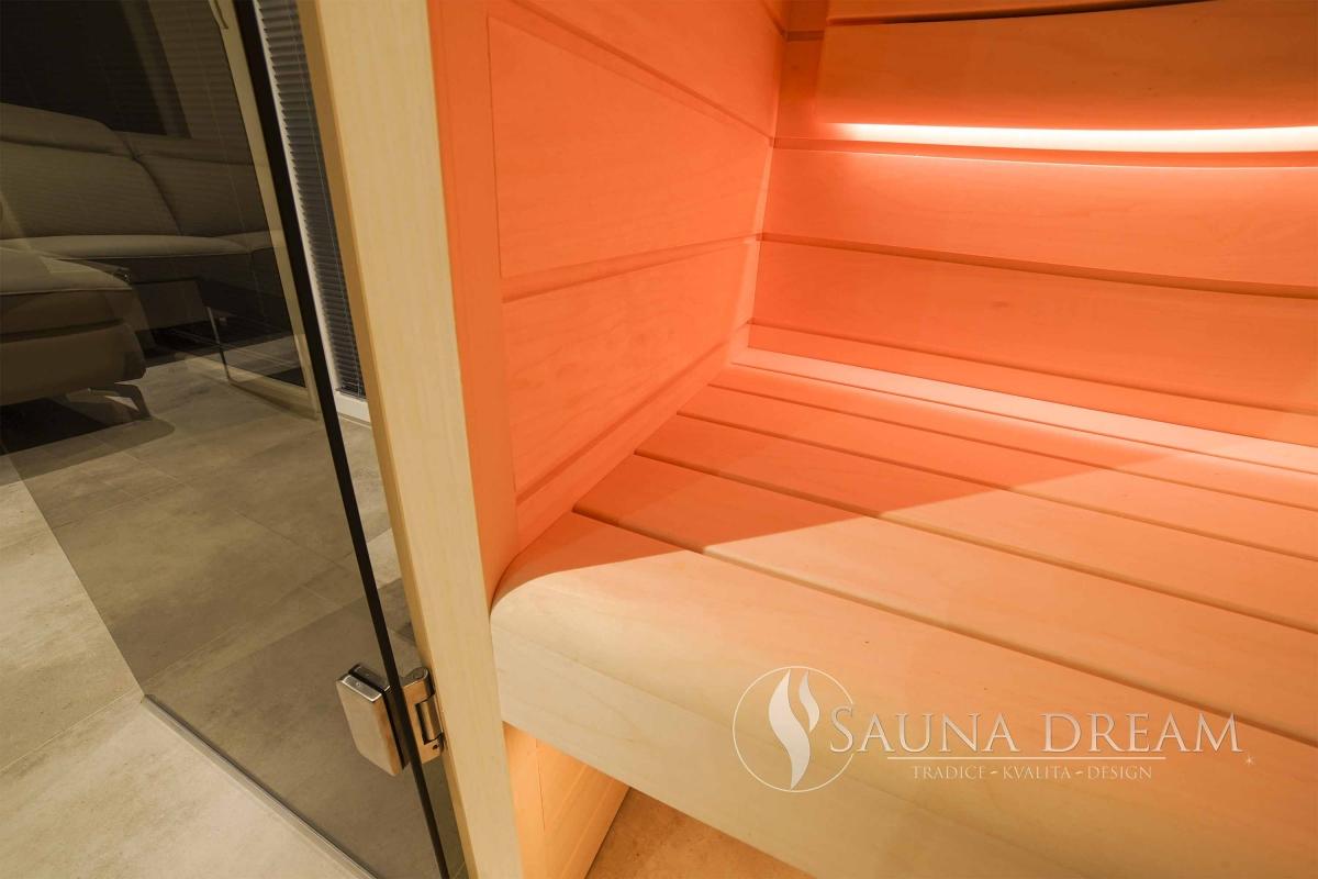 Detail lavice Therapy- rohové napojení