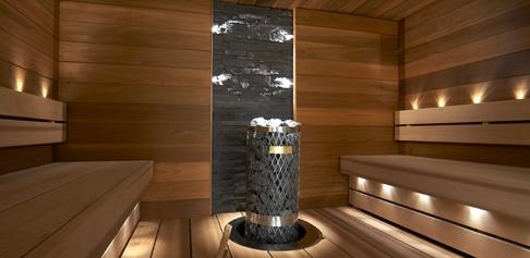 Exclusive cedar sauna