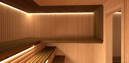 MODERN-interier sauna