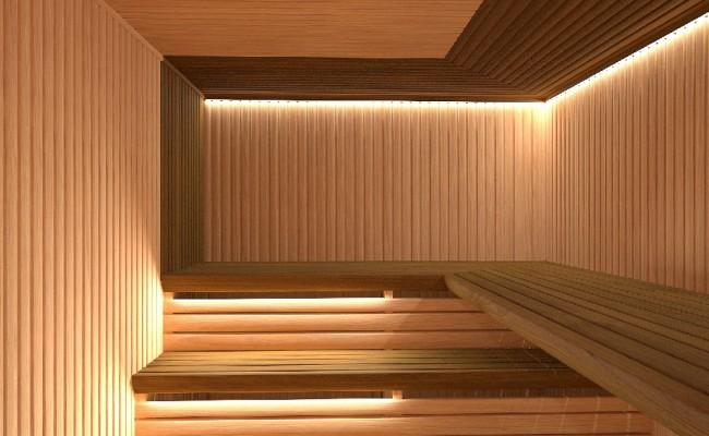 Modern-sauna- vnitřní