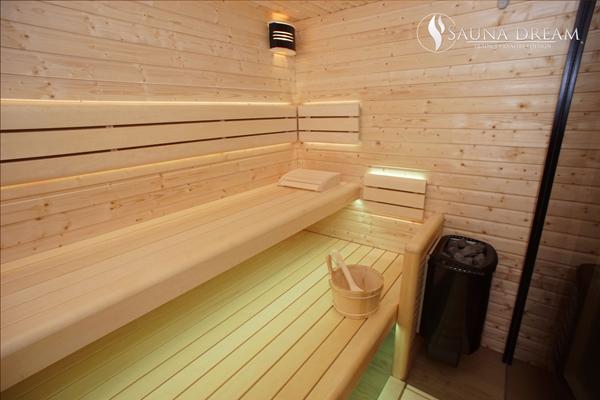 Sauna na míru- finský smrk 600x400