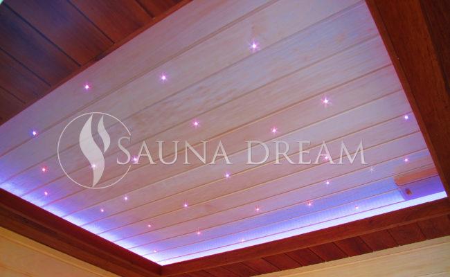 Snížený-podsvícený-podhled sauna modern