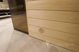 Integrovaná ventilace saunové kabiny