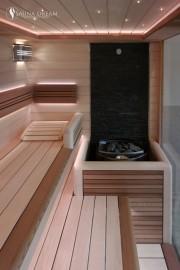 Kamenná stěna v bio sauně