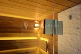 Nerezové kování saunových dveří