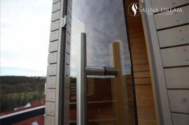 Nerezové madlo- venkovní finská sauna na míru