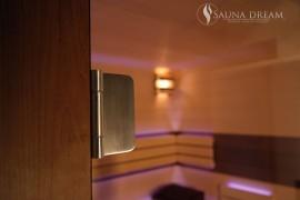 Nerezové závěsy saunových dveří