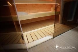Podlahový rošt sauny