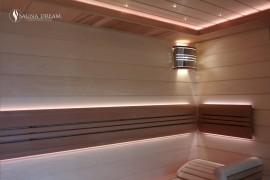 Podsvícené opěrky sauny