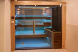 RGB osvětlení sauny