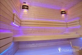 RGB podsvícení saunových lavic