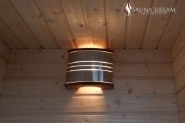 Saunové světlo Legend Steel