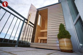 Venkovní finská sauna ve výbavě Comfort